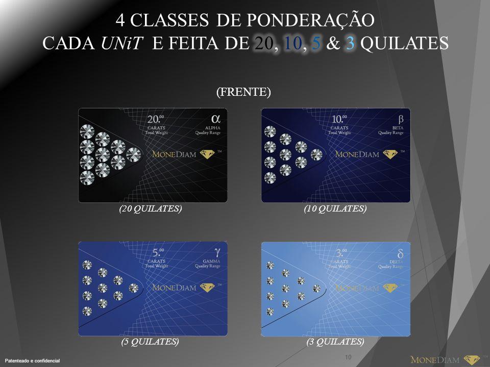 CADA UNiT E FEITA DE 20, 10, 5 & 3 QUILATES