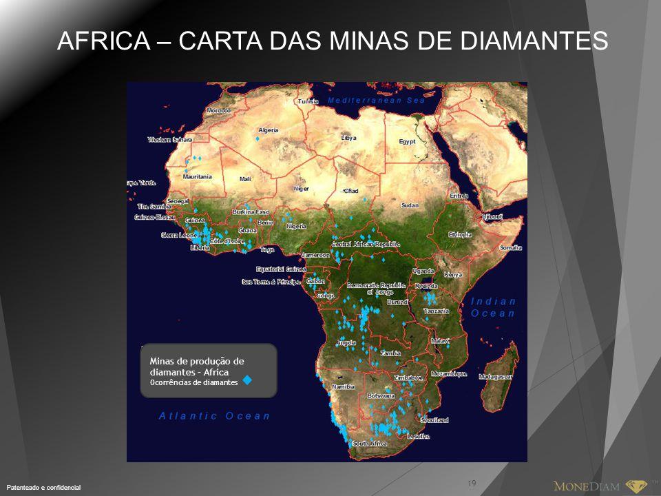 AFRICA – CARTA DAS MINAS DE DIAMANTES