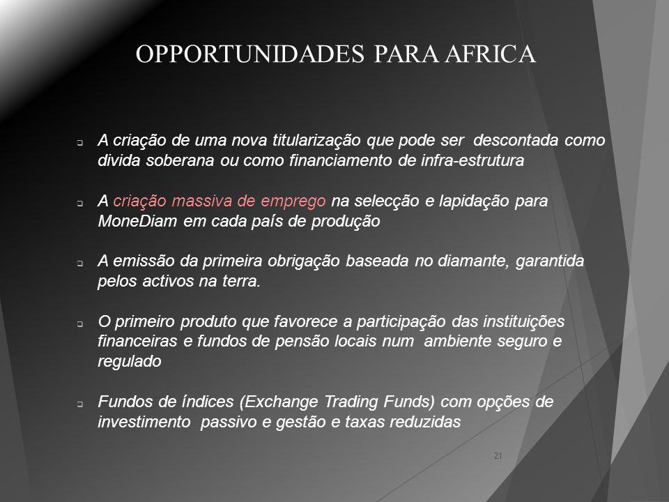 OPPORTUNIDADES PARA AFRICA