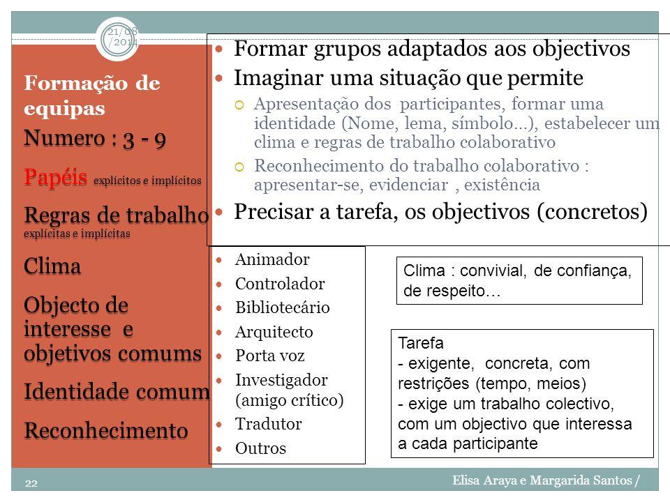Formar grupos adaptados aos objectivos