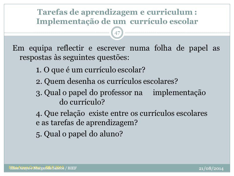 1. O que é um currículo escolar
