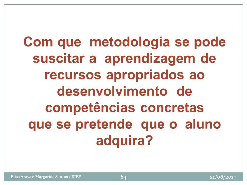 Com que metodologia se pode suscitar a aprendizagem de recursos apropriados ao desenvolvimento de competências concretas que se pretende que o aluno adquira