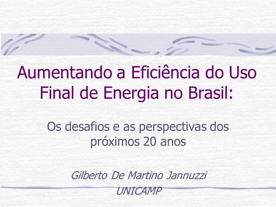 Aumentando a Eficiência do Uso Final de Energia no Brasil: