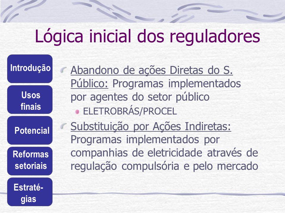 Lógica inicial dos reguladores