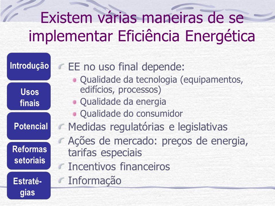 Existem várias maneiras de se implementar Eficiência Energética