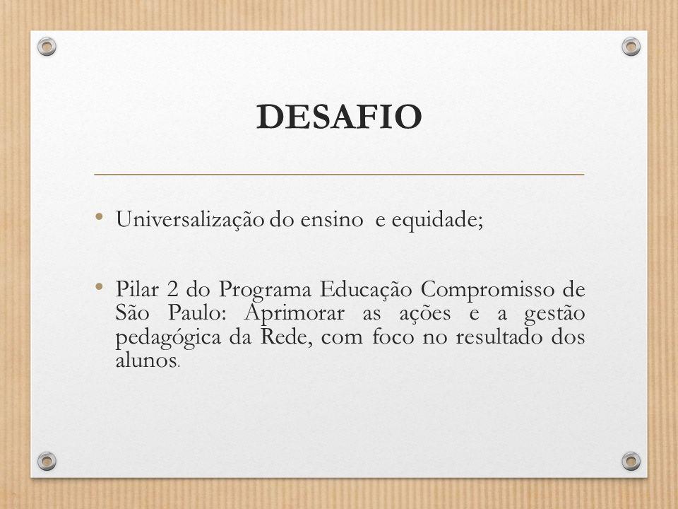DESAFIO Universalização do ensino e equidade;