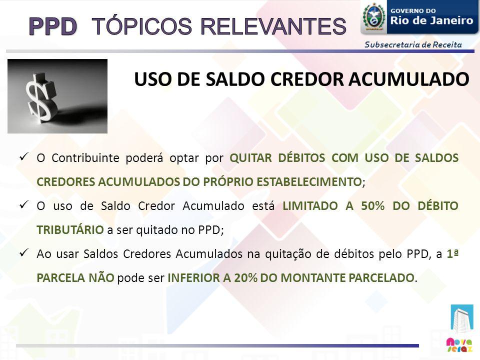 TÓPICOS RELEVANTES USO DE SALDO CREDOR ACUMULADO
