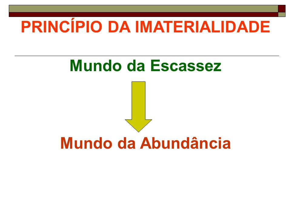 PRINCÍPIO DA IMATERIALIDADE