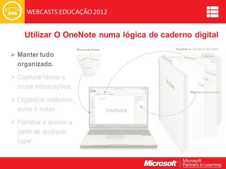 Utilizar O OneNote numa lógica de caderno digital