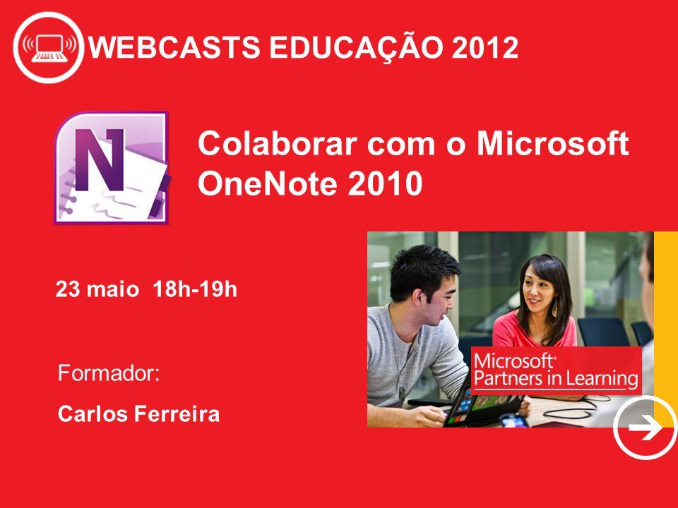 Colaborar com o Microsoft OneNote 2010