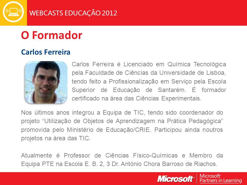 O Formador Carlos Ferreira