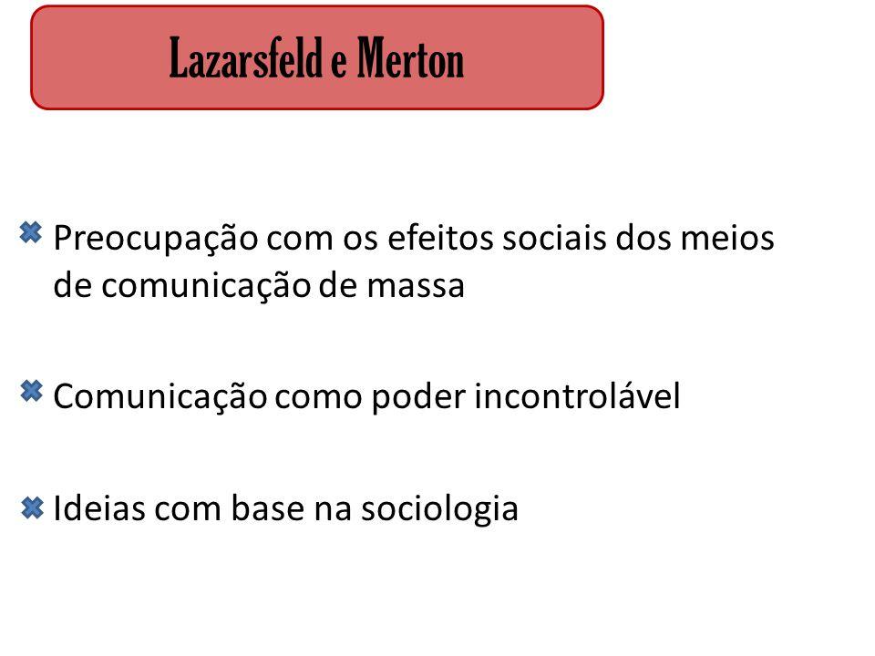 Lazarsfeld e Merton