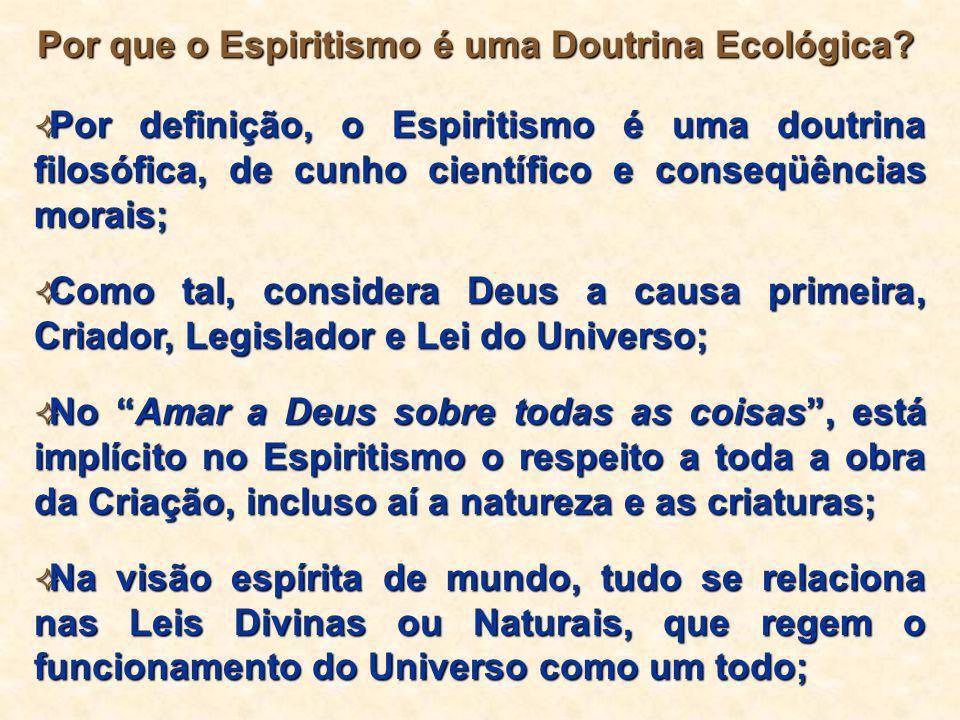 Por que o Espiritismo é uma Doutrina Ecológica