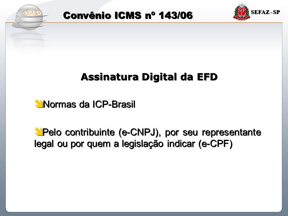 Assinatura Digital da EFD