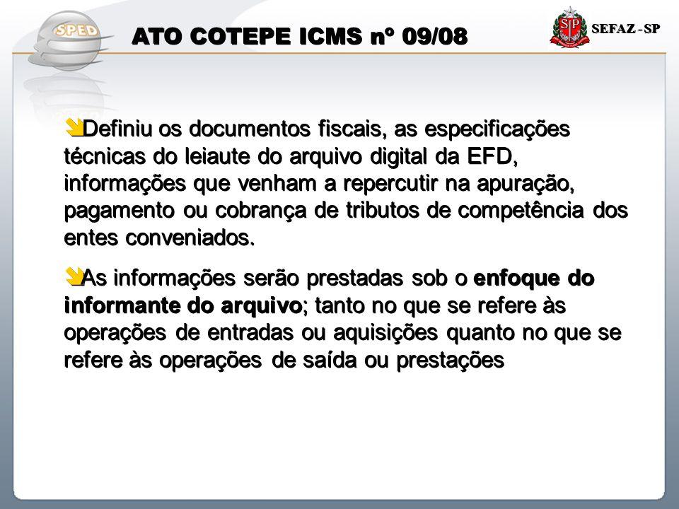 ATO COTEPE ICMS nº 09/08