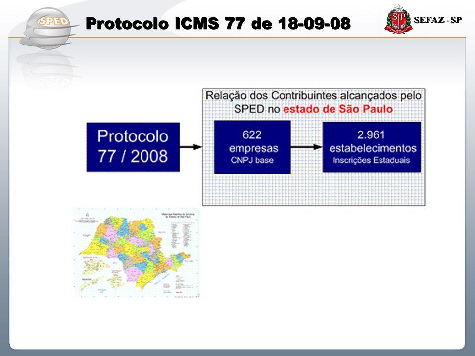 Protocolo ICMS 77 de 18-09-08