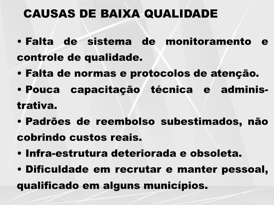 CAUSAS DE BAIXA QUALIDADE