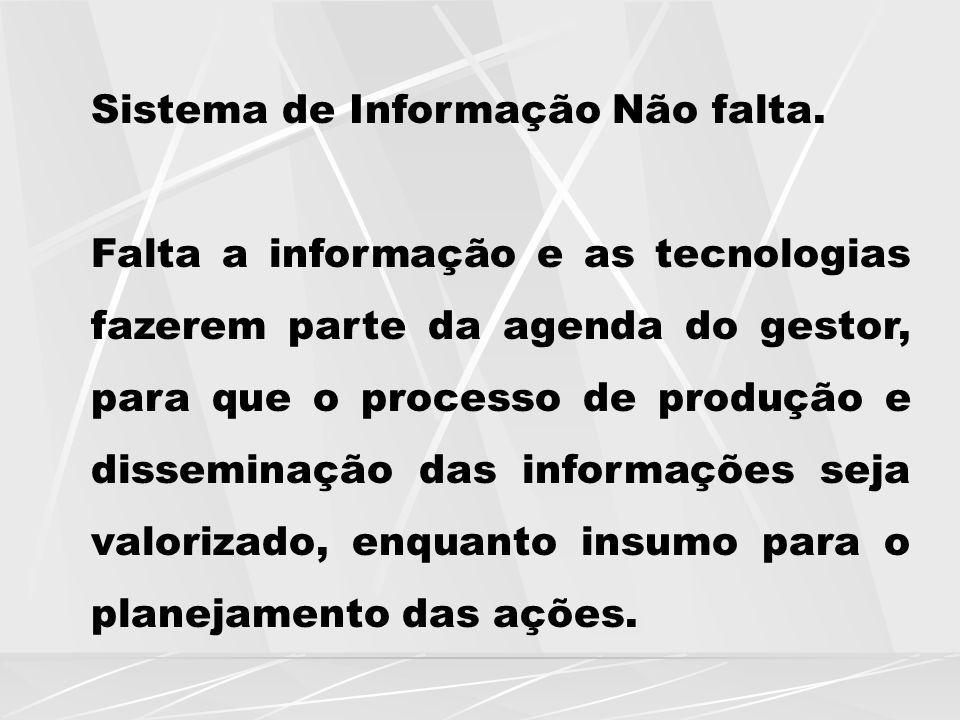 Sistema de Informação Não falta.
