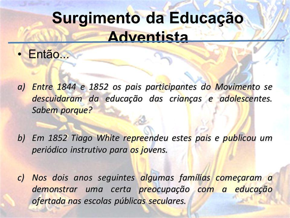 Surgimento da Educação Adventista