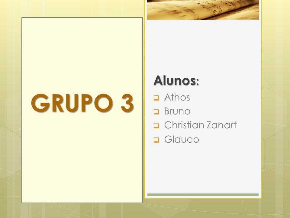 Alunos: GRUPO 3 Athos Bruno Christian Zanart Glauco