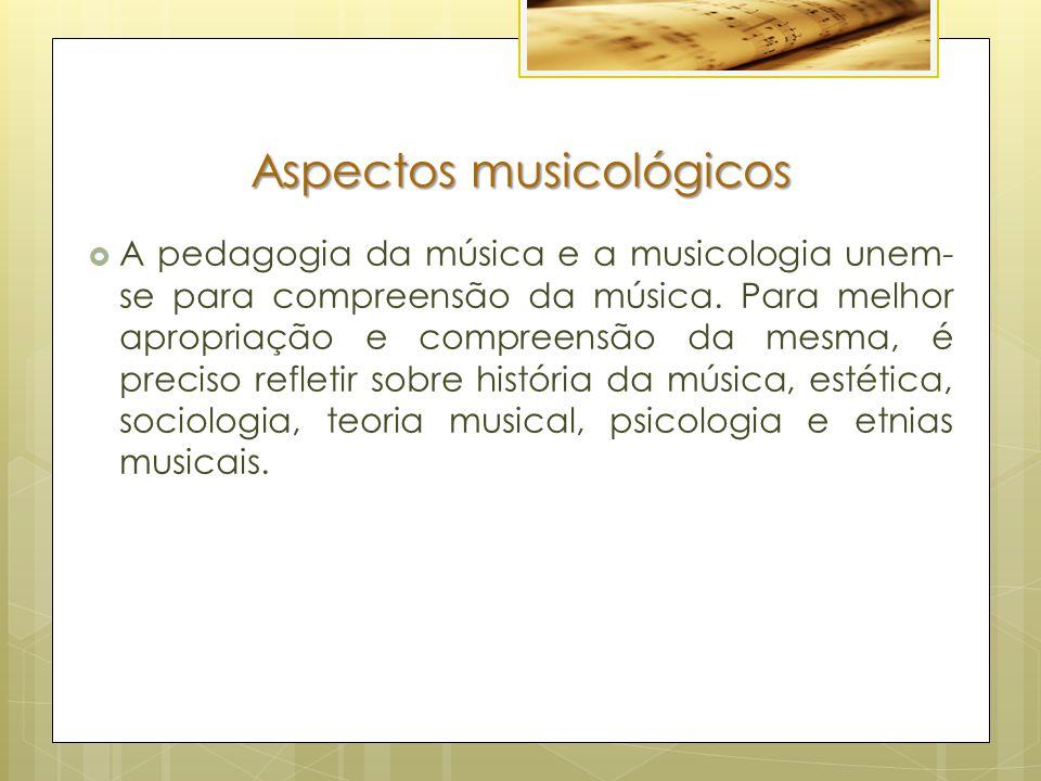 Aspectos musicológicos