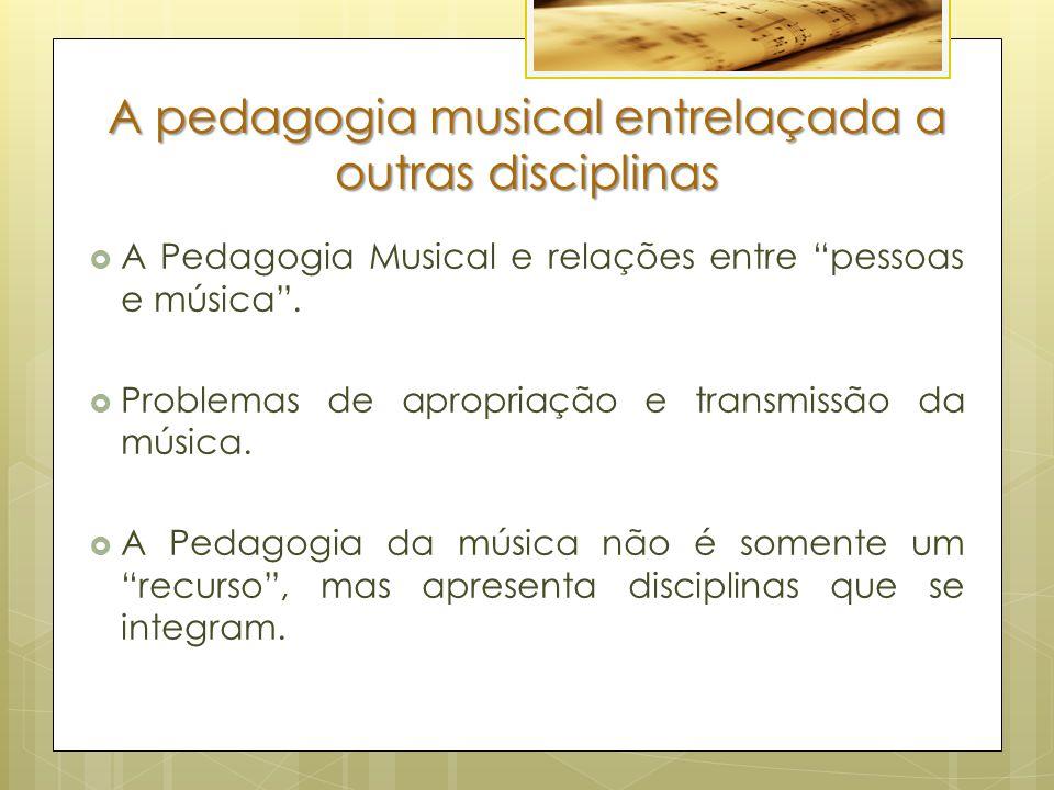 A pedagogia musical entrelaçada a outras disciplinas