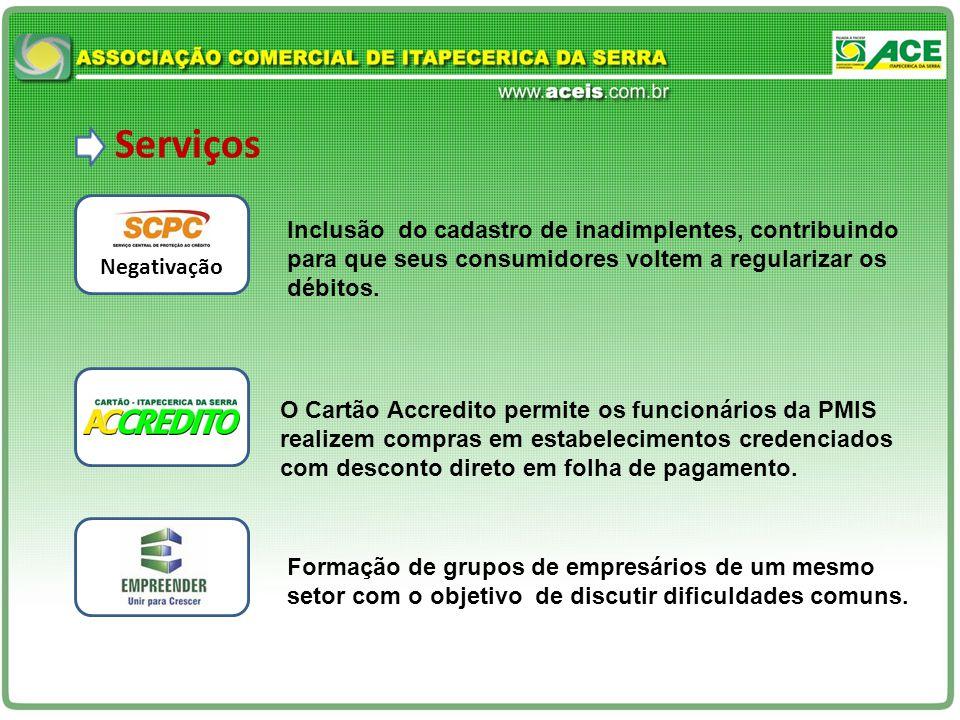 Serviços Inclusão do cadastro de inadimplentes, contribuindo para que seus consumidores voltem a regularizar os débitos.