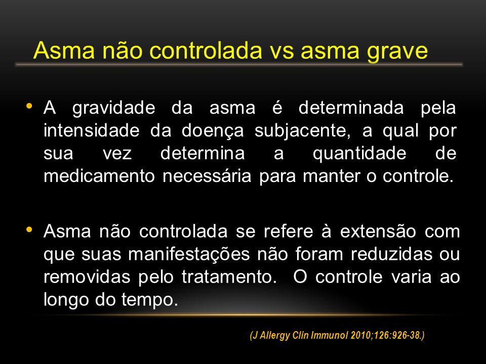 Asma não controlada vs asma grave