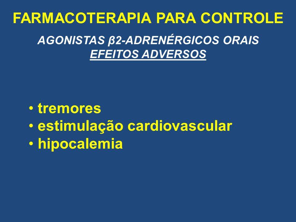 FARMACOTERAPIA PARA CONTROLE AGONISTAS β2-ADRENÉRGICOS ORAIS
