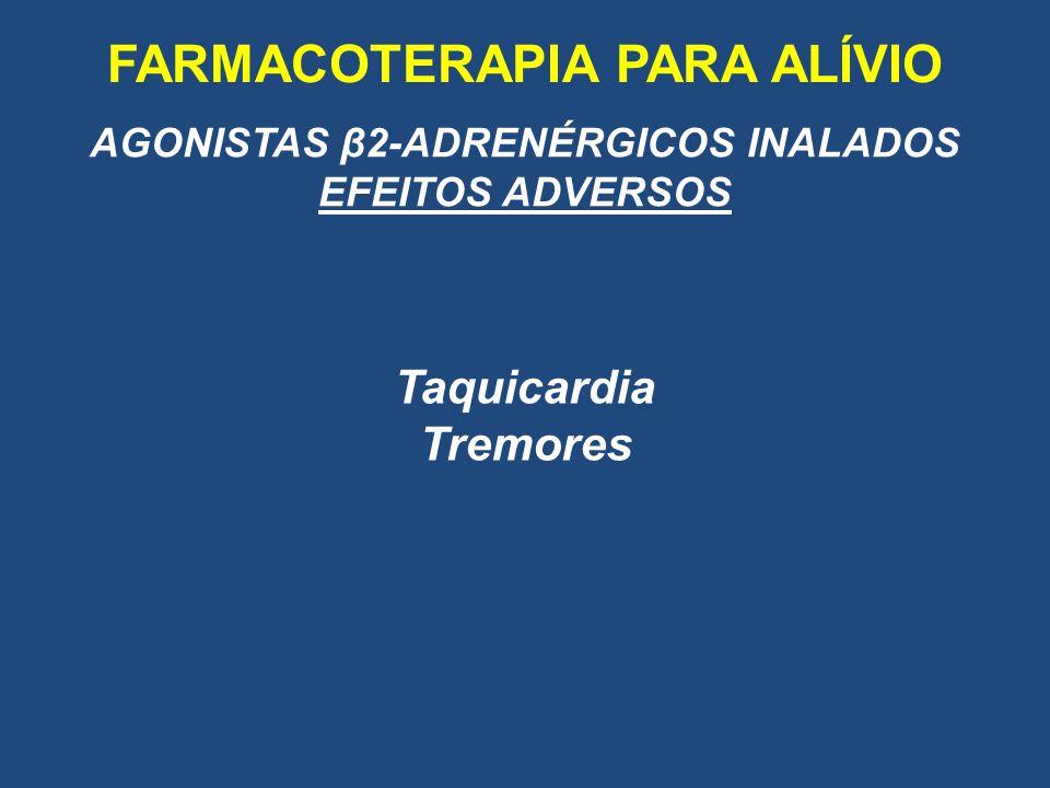 FARMACOTERAPIA PARA ALÍVIO AGONISTAS β2-ADRENÉRGICOS INALADOS