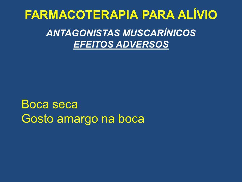 FARMACOTERAPIA PARA ALÍVIO ANTAGONISTAS MUSCARÍNICOS