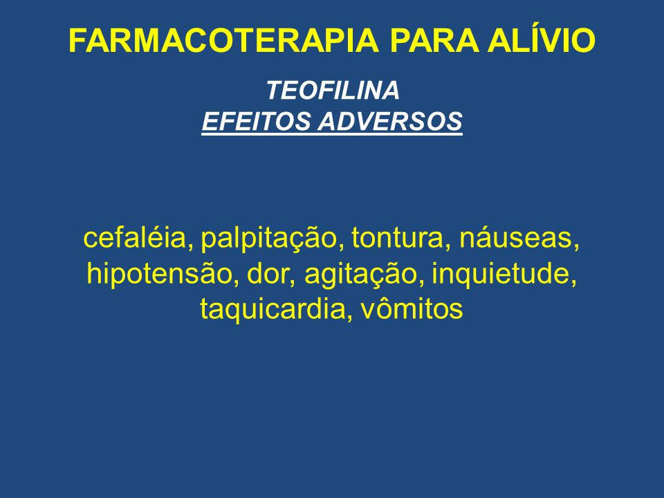 FARMACOTERAPIA PARA ALÍVIO