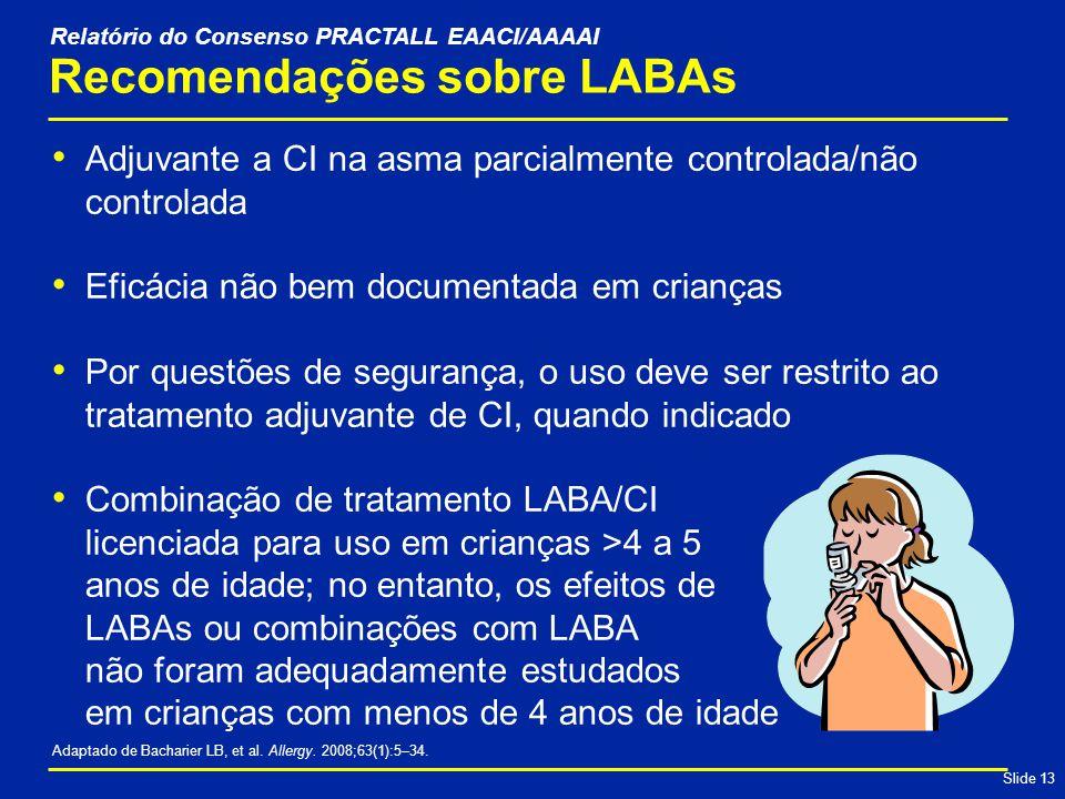 Recomendações sobre LABAs