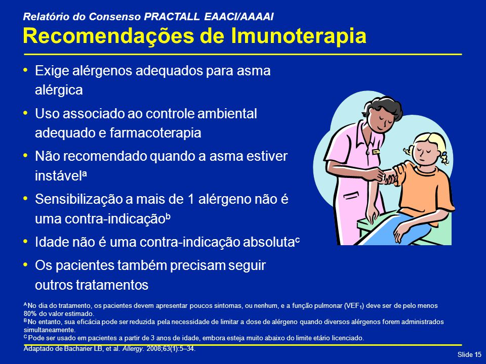 Recomendações de Imunoterapia