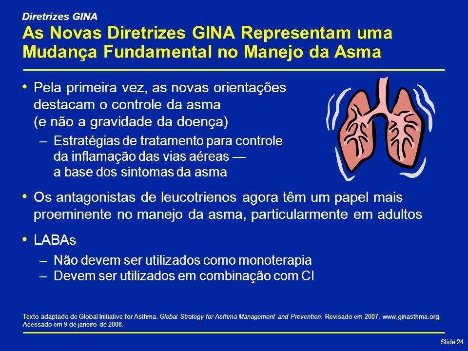 Diretrizes GINA As Novas Diretrizes GINA Representam uma Mudança Fundamental no Manejo da Asma.