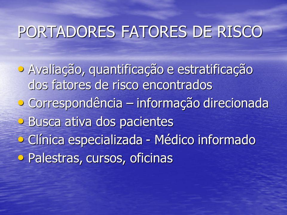 PORTADORES FATORES DE RISCO