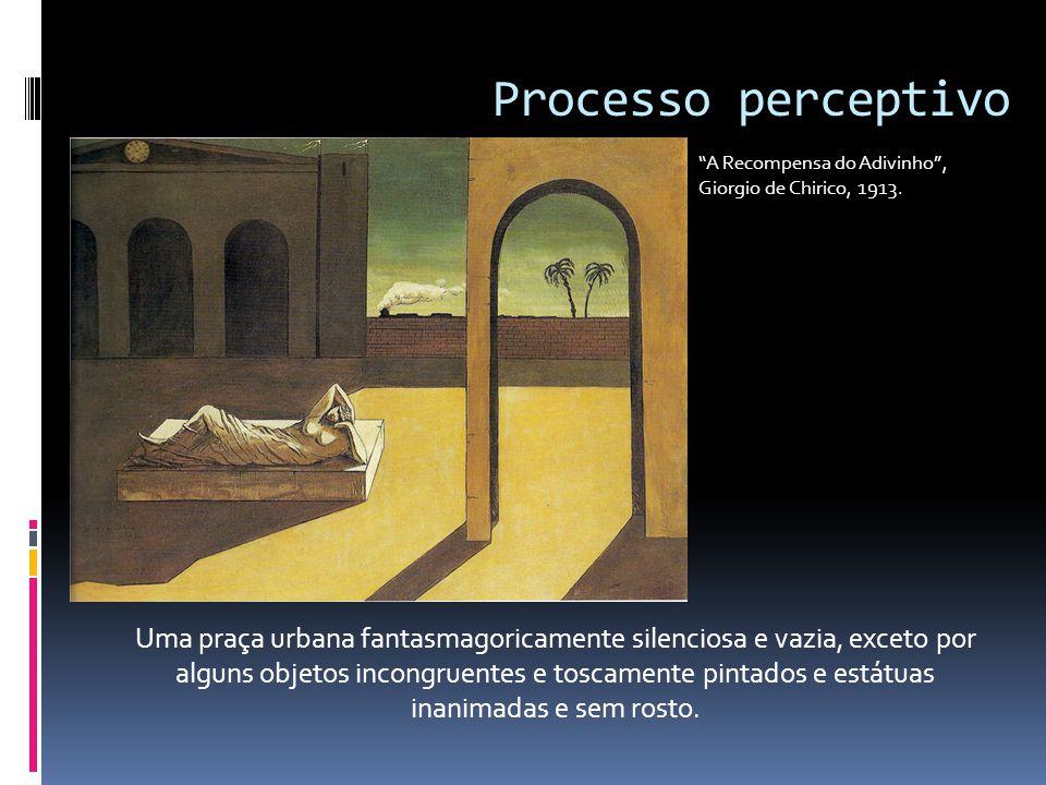 Processo perceptivo A Recompensa do Adivinho , Giorgio de Chirico, 1913.