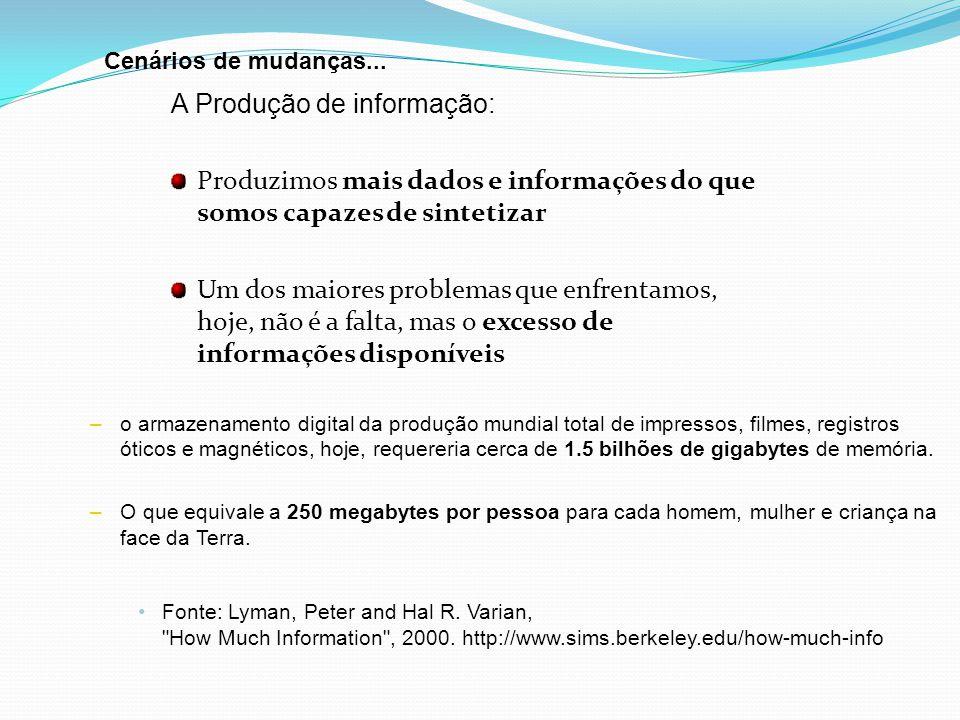 A Produção de informação: