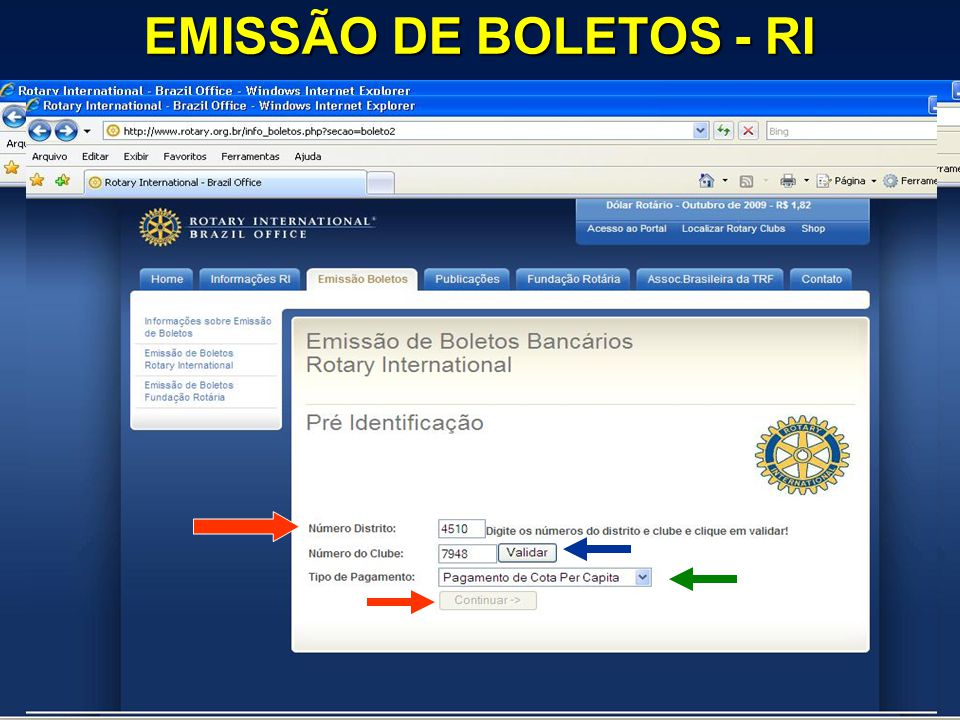EMISSÃO DE BOLETOS - RI