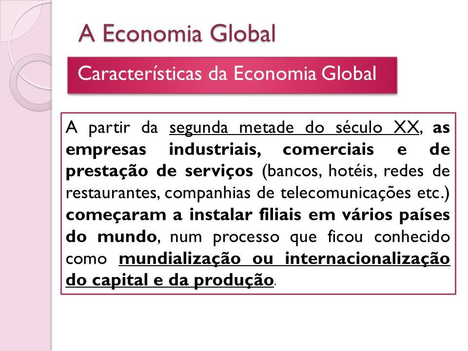 A Economia Global Características da Economia Global