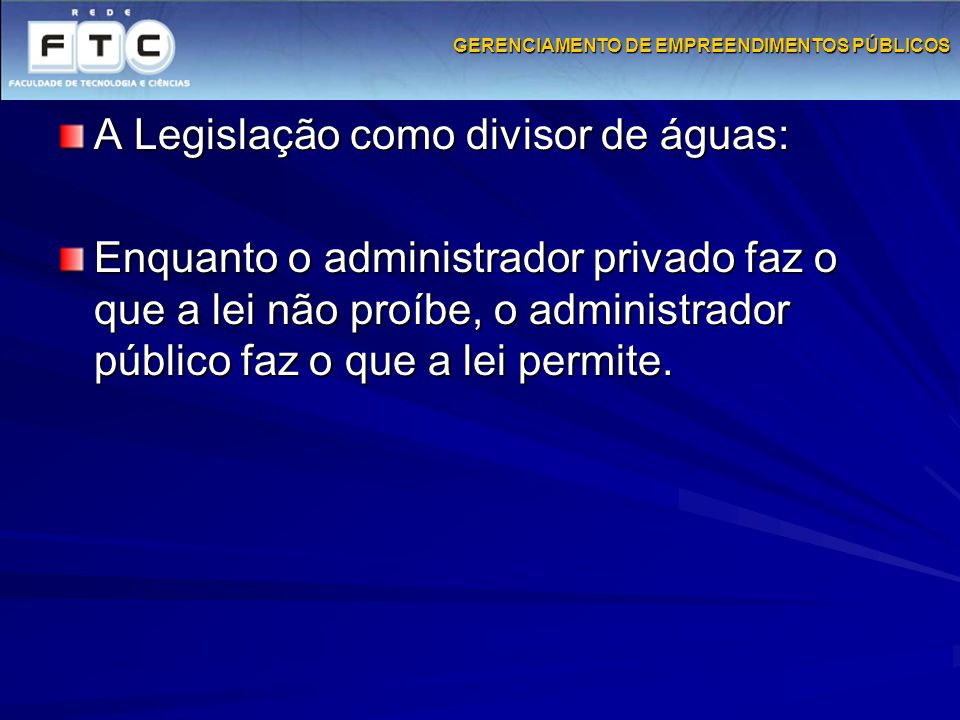GERENCIAMENTO DE EMPREENDIMENTOS PÚBLICOS