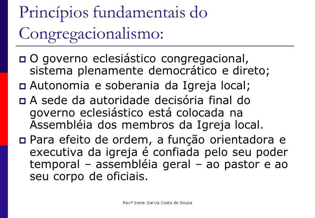 Princípios fundamentais do Congregacionalismo: