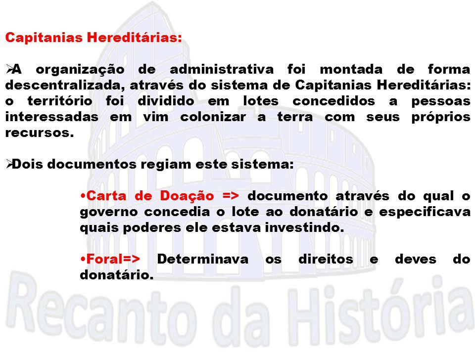 Capitanias Hereditárias: