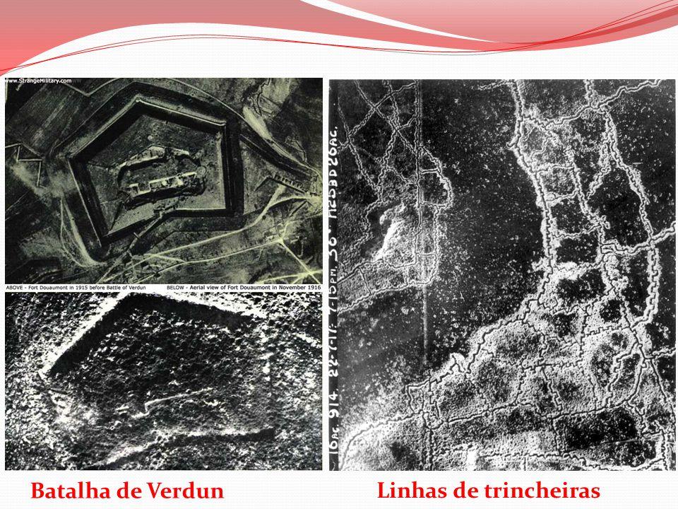 Linhas de trincheiras Batalha de Verdun