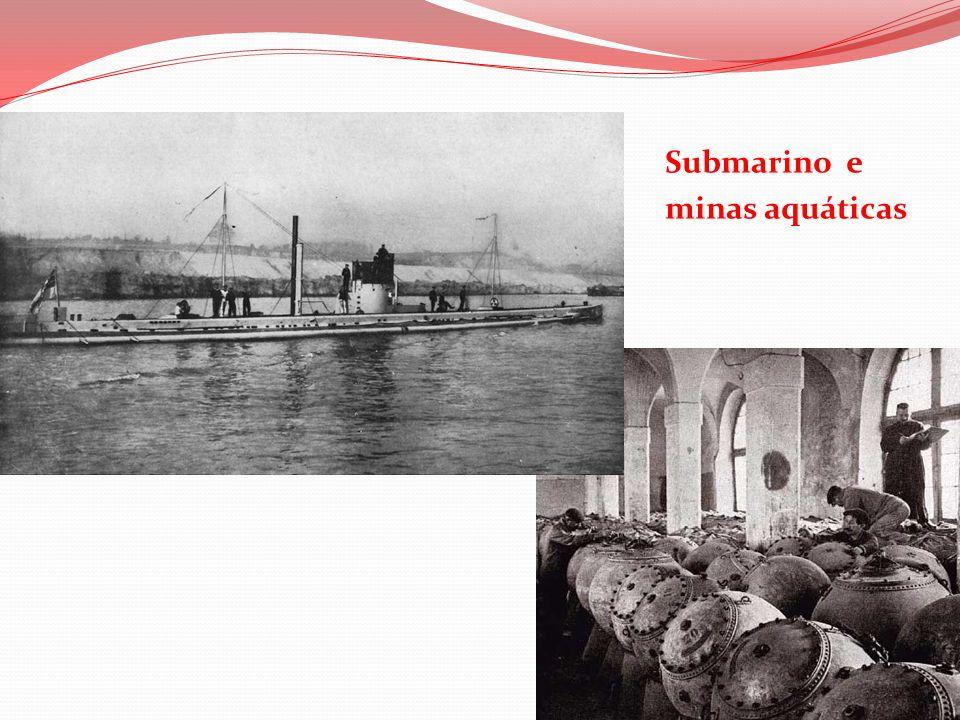 Submarino e minas aquáticas