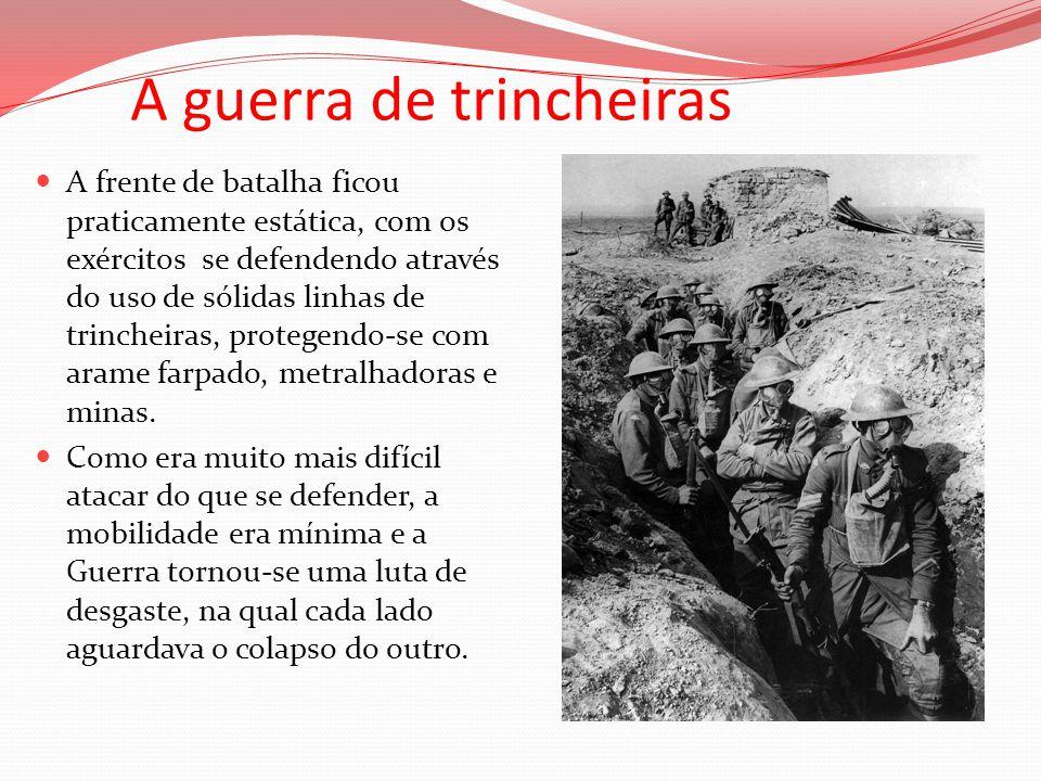 A guerra de trincheiras