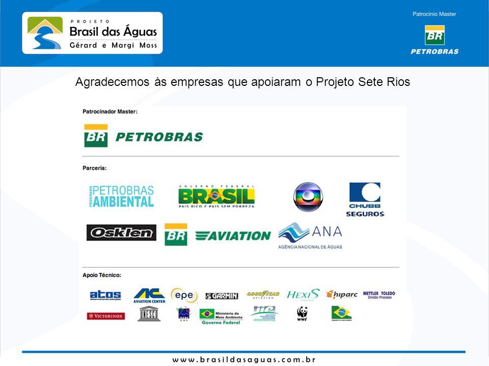 Agradecemos às empresas que apoiaram o Projeto Sete Rios