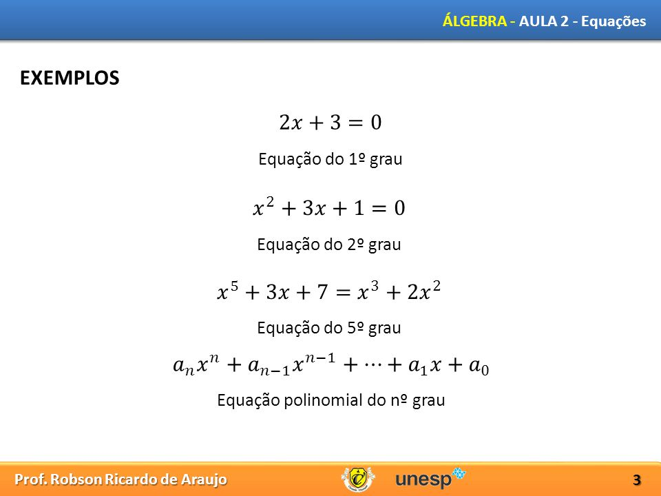 Equação polinomial do nº grau