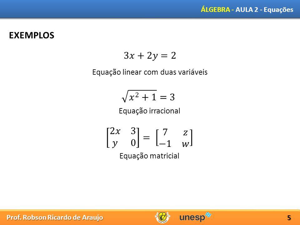 Equação linear com duas variáveis