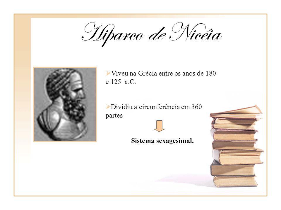 Hiparco de Nicéia Viveu na Grécia entre os anos de 180 e 125 a.C.